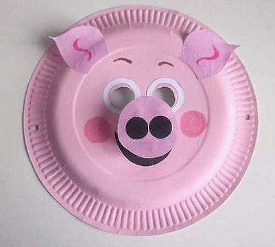 Paper Plate Pig.