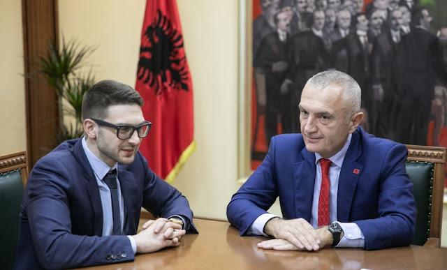 Albanian President Ilir Meta meeting Soros's son Alex