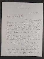 A handwritten letter from 1948, addressed to President Dickey.
