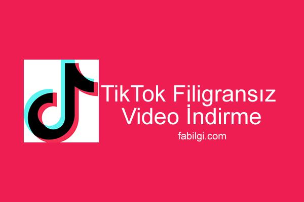 TikTok Filigransız Video İndirme Yöntemi Yeni Site 2021