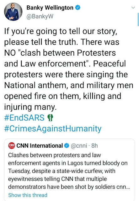'If You're Going To Tell The Story, Tell The Truth' - Banky W Slams CNN For Reporting Biased News