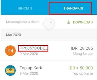 Riwayat Transaksi Debit Jenius