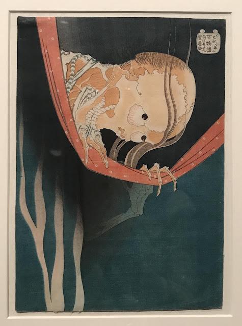 Photo of Katsushika Hokusai woodblock print, 'The ghost of Kohada Koheiji', c. 1832-32