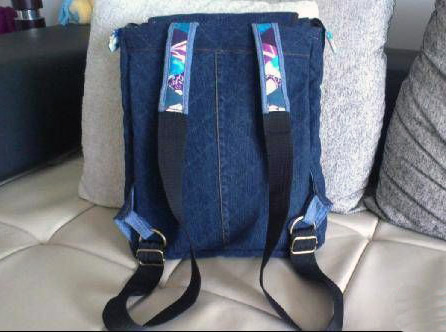 Recycle Jeans/Denim Backpack Patchwork Tutorial. Шьем Джинсовый рюкзак.