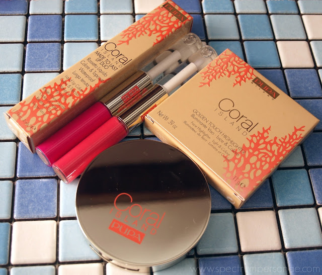 Pupa Coral Island LE - Made To Last Lip Duo + Golden Touch Highlight