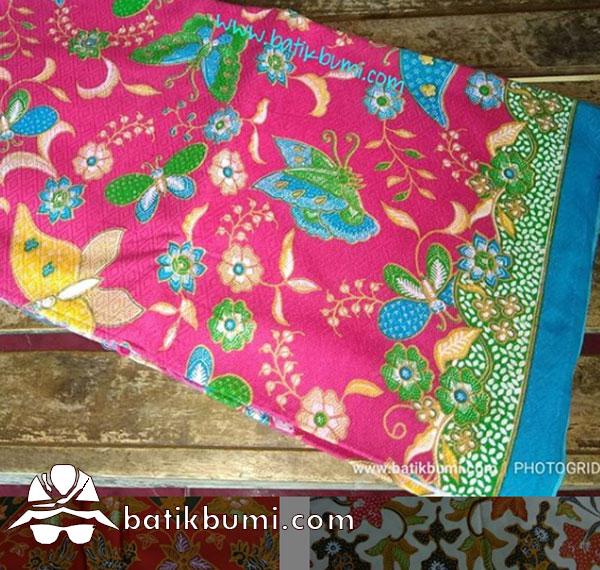 Batik Dobby Print Motif Buketan Kupu Fanta