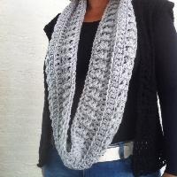 haakpatroon colsjaal, haken, sjaal, infinity scarf