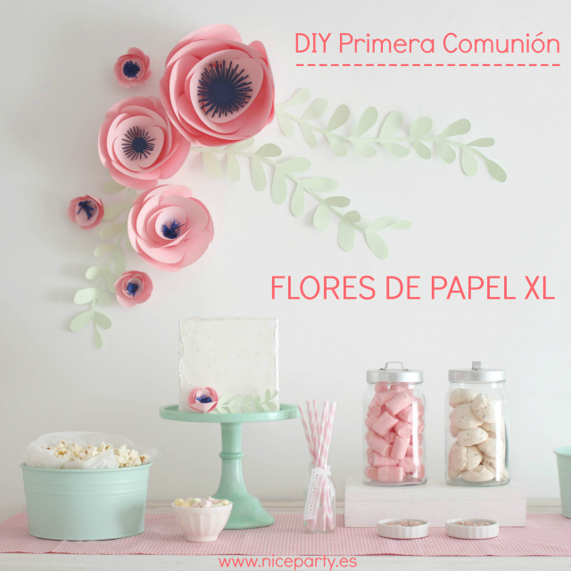 Manualidad Flores Papel Xl para decorar Comunion