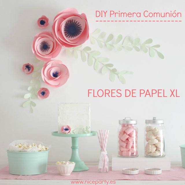 Manualidad Flores Papel Xl para decorar Comunion
