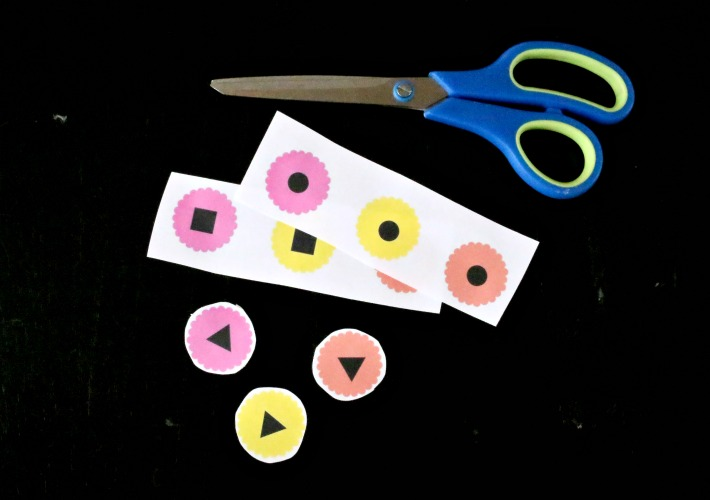flower shape sorting printable