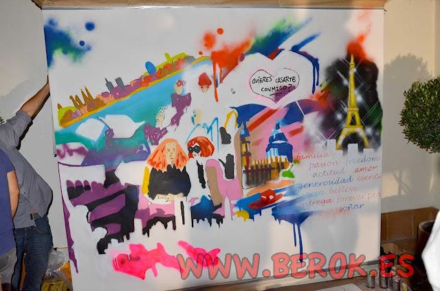 Exhibición de graffiti de moda