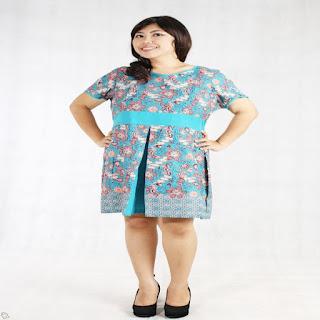model baju batik atasan untuk orang gendut