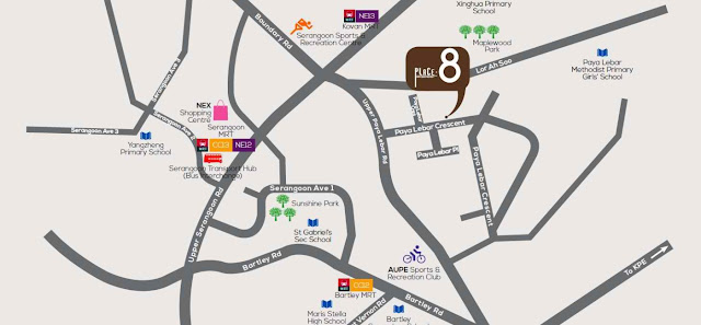 Place 8 @ Paya Lebar Crescent Location