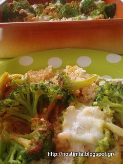 Κινόα με μπρόκολο και μοτσαρέλα