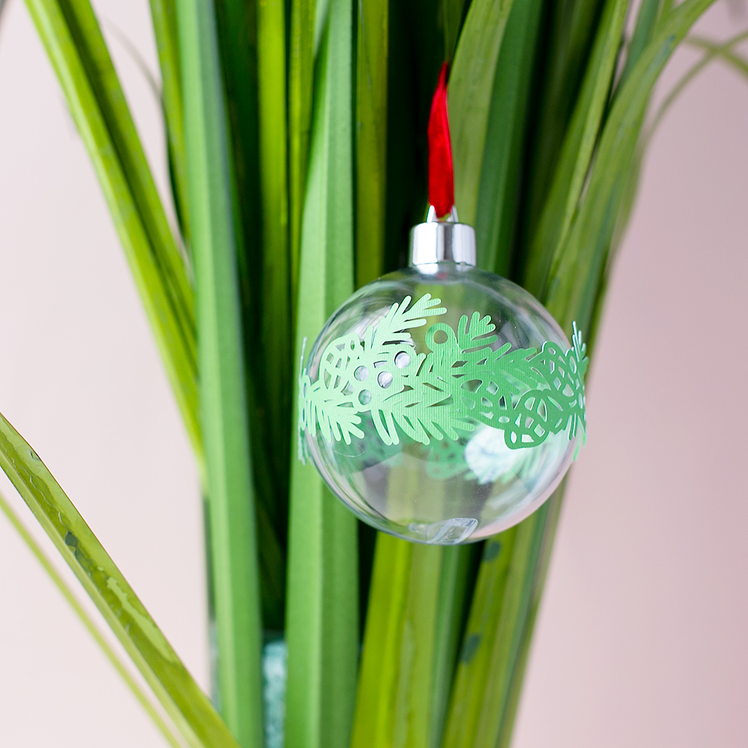 Christmas Tree Ball Ornament with Garland Cutfile