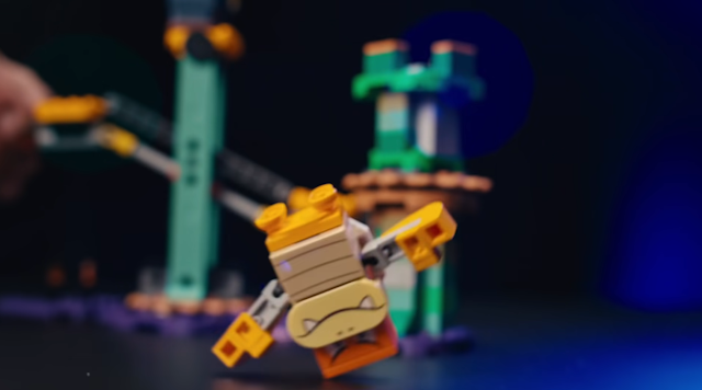 Boom Boom LEGO Adventures with Luigi falls on head dies violence