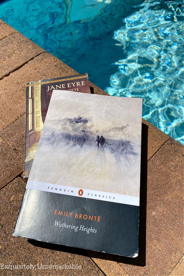 Bronte Sister Classic Books by the pool