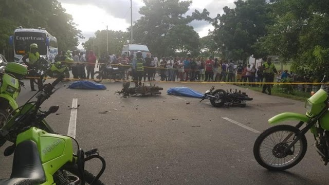 Dos muertos y un herido tras choque de motores