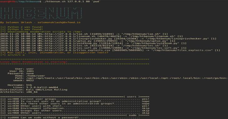 HTBenum : A Linux Enumeration Script For Hack The Box