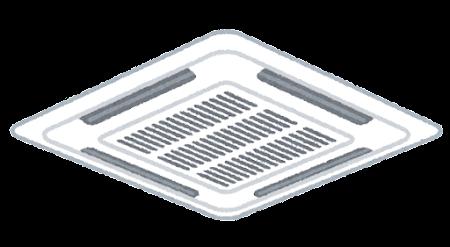 天井埋め込みエアコンのイラスト