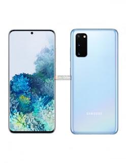 صورة galaxy s20 باللون الازرق