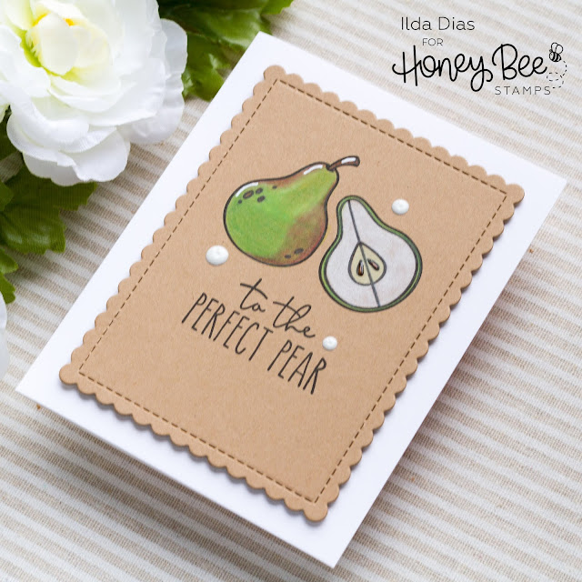 Hello Summer, Sneak Peeks, Pearfect Sentiments, Card Set, Honey Bee Stamps, Freshly Picked, Card Making, Stamping, Die Cutting, handmade card, ilovedoingallthingscrafty, Stamps, how to, Fruit Puns, Fruits, Pears