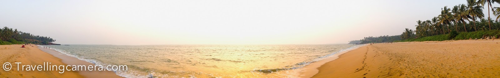 This panorama is clicked on one of the beaches around Kannur, when we there for Theyyam Festival.