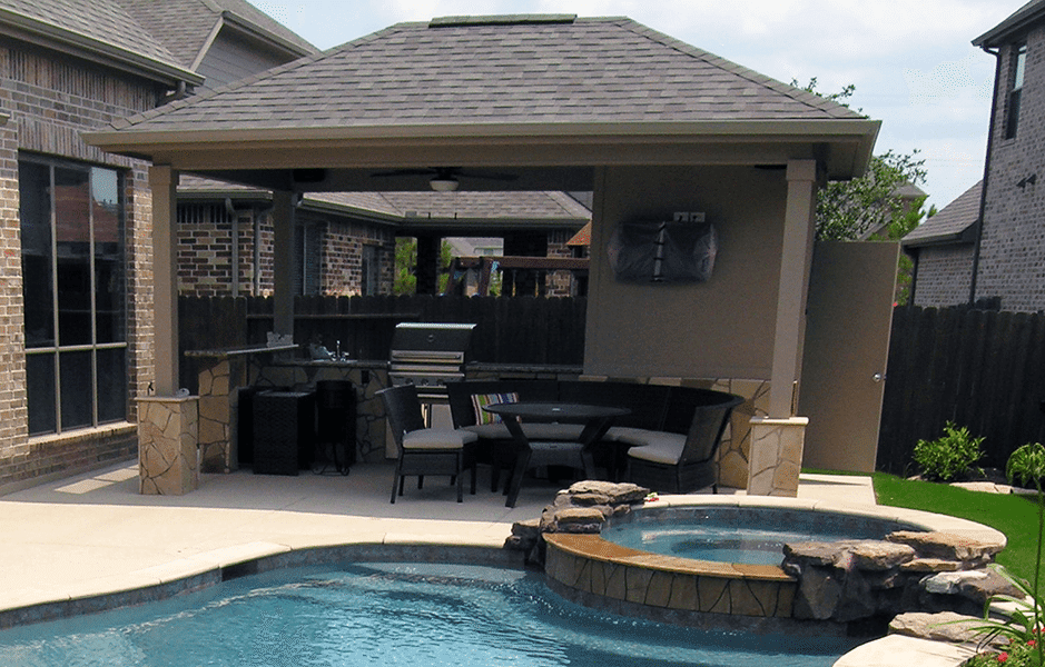 Custom Outdoor Patio Construction DFW 1