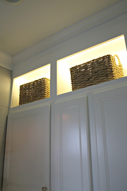 Accent lighting in cabinets