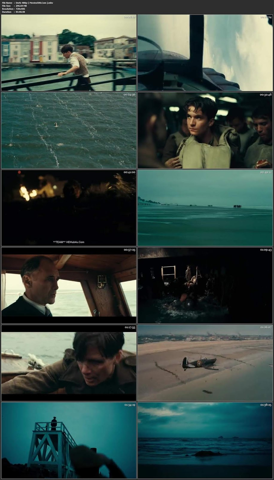 Dunkirk 2017 Hollywood 300MB ENG BluRay 480p ESUBS at movies500.site