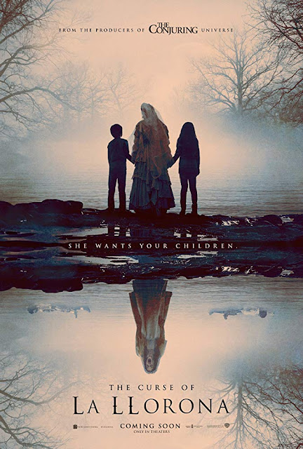 Movie poster for Warner Bros. and New Line Cinema's 2019 horror film The Curse of La Llorona, starring Linda Cardellini, Roman Christou, Jaynee-Lynne Kinchen, Raymond Cruz, Patricia Velasquez, and Marisol Ramirez