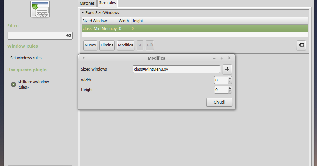 Mint Menu: workaround offset pannello inferiore su Linux Mint MATE e Compiz attivo