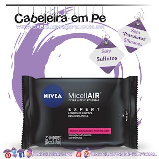 Lenço Demaquilante Micelar Micellair Expert - Nivea (Sem Sulfatos, Sem Petrolatos e Sem Silicones)