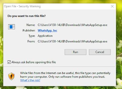 instal aplikasi whatsapp web
