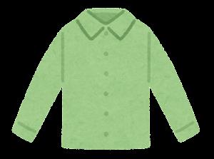 シャツのイラスト(緑)