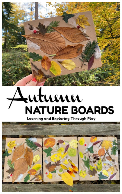 Nature Collage Boards Forest School Nature Activities for Kids Early Years