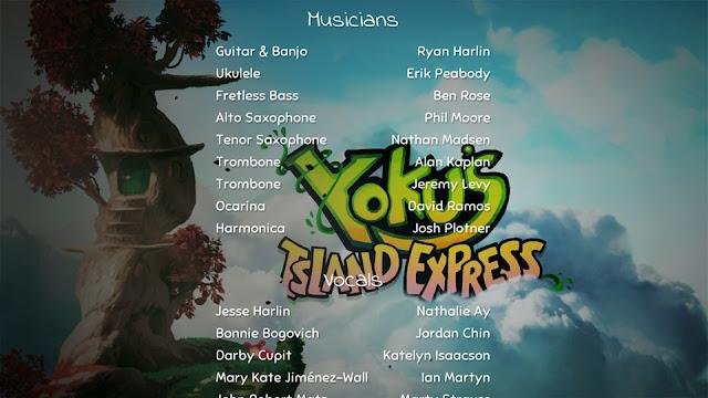 Yoku's Island Express Credits Musicians Vocals Erik Peabody ukulele