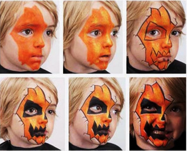 Simple Face Painting Designs Printable Halloween