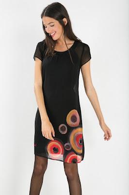 7a78de5e4c4 Vestido negro desigual 2015 - Vestidos verano