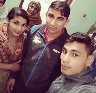 Nitin Tomar with his brother and sister, Nitin Tomar Family