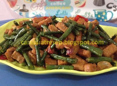 Foto Resep Tumis Tempe Kacang Panjang Bakso Sederhana Spesial Pedas Asli Enak