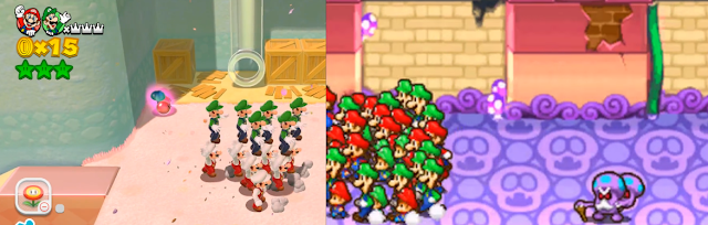 Double Cherry Copy Flower Mario Luigi clones Baby Partners in Time Super 3D Land