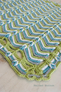 Rolling Ridge Blanket Crochet Pattern by Susan Carlson of Felted Button