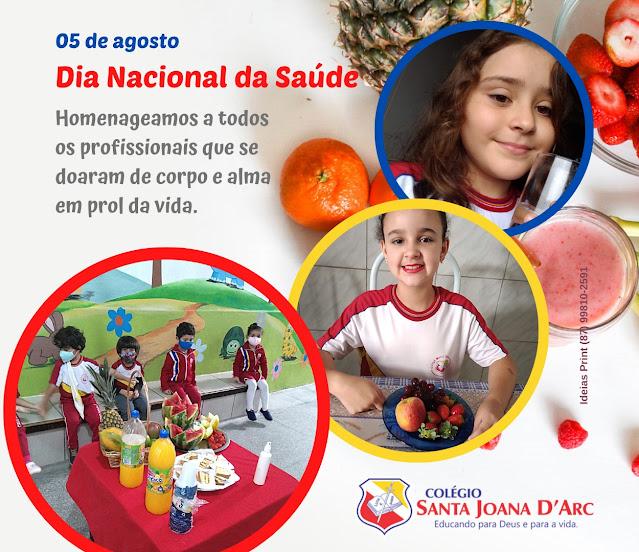 Colégio Santa Joana D'Arc, utiliza muita determinação e ação no dia nacional da saúde.