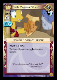 My Little Pony Flash Magnus' Shield Friends Forever CCG Card