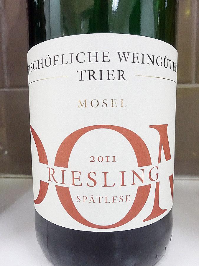 Bischöfliche Weingüter Trier Dom Spätlese Riesling 2011 (90 pts)