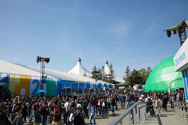 A large crowd at Google I/O