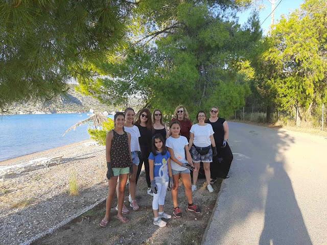 Καθαρισμός παραλίας στην Κοιλάδα Αργολίδας από τον Πολιτιστικό Σύλλογο Φράγχθι