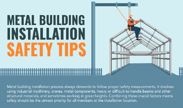 Metal Building Installation Safety Tips #infographic