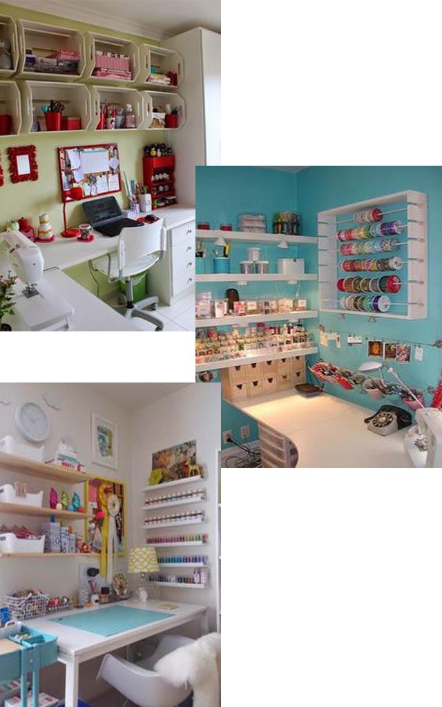 Ideias para transformar seu home office em seu atelier da costura.